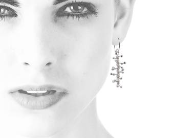 Spiky Silver Feminist Earrings | Gift For Activist | Political Jewelry