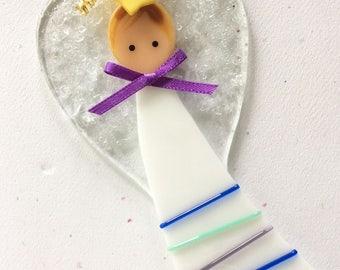 Angel, Handcrafted, Glass Angel, Guardian Angel, Holiday Angel, Birthday, Angel Ornament, Handmade Angel, Glass Angel, Florence Niven