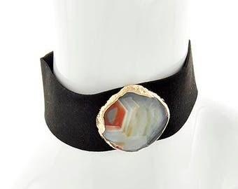 Sale Agate stonecollar necklace