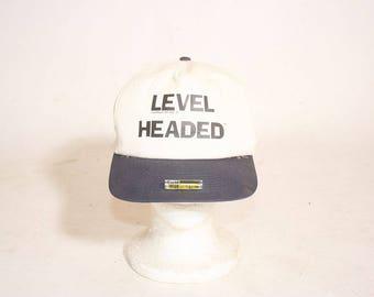 Vintage 1990s Level Headed Baseball Cap