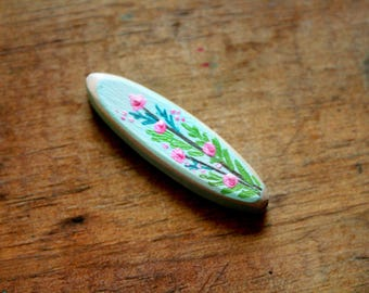 Floral Branch Tube Bead