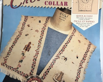 Vintage Daisy Kingdom Creative Collar, Country Fabric, Home Tweet Home, Daisy Kingdom #71402, Bird Fabric, Vintage Fabric