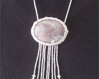 Beaded Necklace in Silver