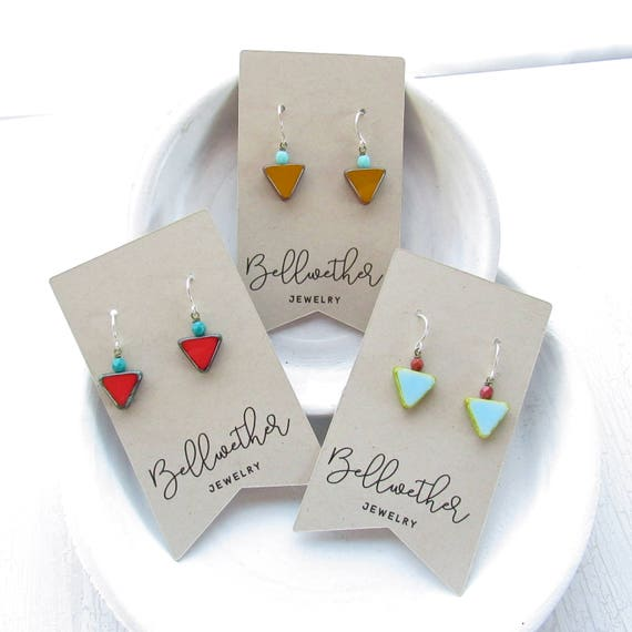 Gift Set - Small Angle Earrings - Three Pairs