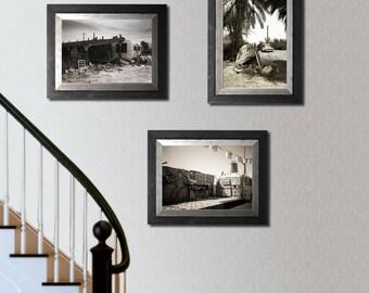 Salton Sea California Art Collection, Set of 3 Prints, Black and White Photography Set, Film Photography, Abandoned,  Desert Wall Art