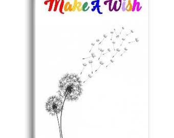 Make A Wish Magnet, Refrigerator Magnet, Dandelion Magnet - RM030