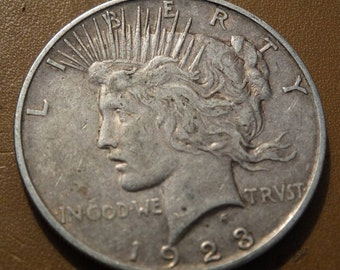 1923 Peace Silver Dollar (D) Coin antique coins for Jewelry Jeweler Numismatic Coinage Retro Americana Coinage 1920's Lot #36