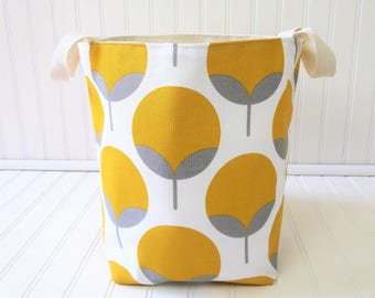 Canvas Storage Bin - Canvas Storage - Canvas Storage Basket - Canvas Storage Bag - Fabric Storage Bin - Fabric Storage Cube
