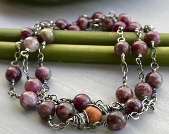 Tourmaline Bracelet, Pink Stone Bracelet, Healing Bracelet, Pink Diffuser Bracelet, Essential Oil Bracelet, Heart Chakra, Mother's Day Gift