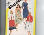 Vintage 1980 Sewing Pattern Simplicity 5514 Misses Womens Jumper Dress Sundress Jacket Plus Size 20 22 24 1/2 Bust 43 44 45 46 47 UNCUT