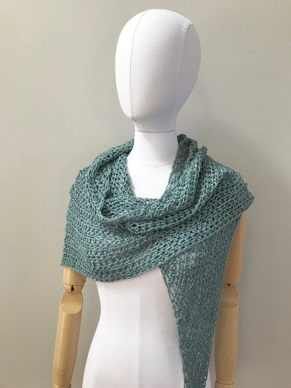 Organic Linen Triangle Wrap Shawl