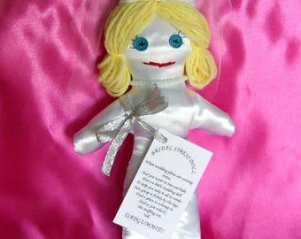 Bride Wedding Stress Doll DAMMIT DANGIT or DADGUMMIT