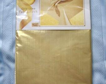 Vintage Gold Lame' Tablecloth