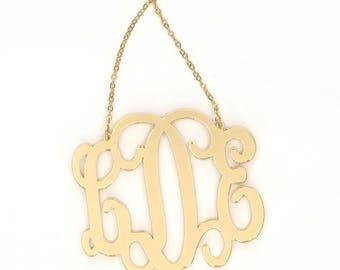 Heartstrings XLarge Interlocking Monogram Acrylic Necklace