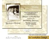 50th Anniversary Invitation with Picture, 50th Anniversary Invitation with Photo, Wedding Anniversary Invitation Printable, Printed