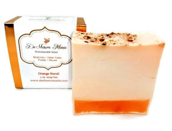 SOAP - Orange Neroli Handmade Soap, Orange Soap, Neroli Soap, Vegan Soap, Soap Gift, Christmas Gift, Mother's Day Gift, Birthday Gift