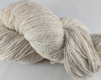 Soft Shetland Light Grey Wool Handspun Yarn 372 Yards