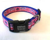 Chicago Cubs American Baseball Personalized Girl Pink Dog Collar MLB 2016 National League World Series Champions