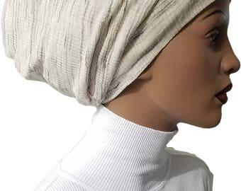 Striped Cotton Knit Huggee Locs™ Beanie Beanie Cap Hat Tam Slouchy  Beanie Hat Jewish Beanie Hijab Beanie Rasta Beanie Dreadie Handmade