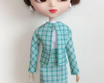 Handmade Skirt Top Jacket fits dolls like Momoko Pullip Designs by P. D. Reneau (S527)