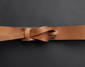 Dark Camel Muse Leather Belt 1 1/2, 1 1/4  Nickel-Free / Free Shipping