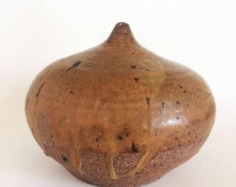 Vintage Studio Pottery Vase, Bud Vase Vessel, Signed Art Pottery, K.Bolin