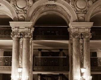 Paris Photography, Paris Opera House, Parisian Architecture, Sepia Photograph, Opera Garnier Paris, Rebecca Plotnick Photography