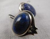 Vintage Sterling Silver Lapis Earrings