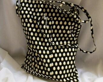 Book Bag, Reusable Shopping Bag, Tote Bag with Pocket, Tote Bag with Eggs, Shopping Bag, Reusable Grocery Bag