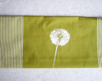 Fair Trade handwoven tea towel 'dandelion' green