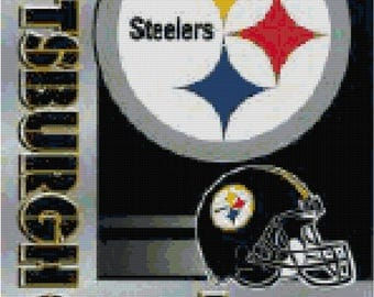 NFL Pittsburgh Steelers Banner Counted Cross Stitch Pattern