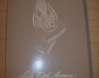 Vintage 50s 6 Pair NOS Saks Fifth Avenue Black Seamless Nylons / Rockabilly Pin Up Girl Hosiery / VLV Stockings Burlesque Costume