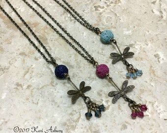 Flight of the Dragonfly Essential Oil Diffuser Necklace