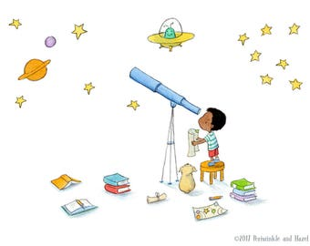 Stargazers - Art Print - Children