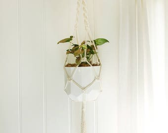 Macrame Plant Hanger - Calisto, Large - Medium Natural Cotton Rope Hanger, Hanging Planter | Made to Order |Free Shipping Australia