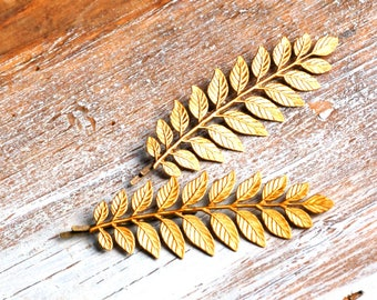 Leaf Branch Bobby Pins, Gold Leaf Bobby Pins, Gold Leaf Hair Pins, Grecian, Woodland Wedding, Bridal Hair, Gold Branch Bobby Pin