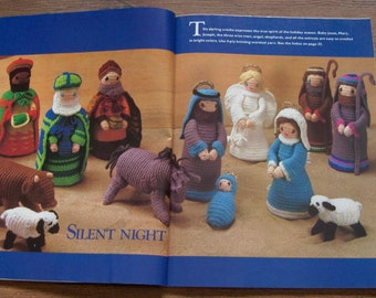 Vintage 1988 McCalls Christmas Knit and Crochet patterns vol 32- Crochet CRECHE, Fairytale and Folklore Sweaters, fashion doll Clothes