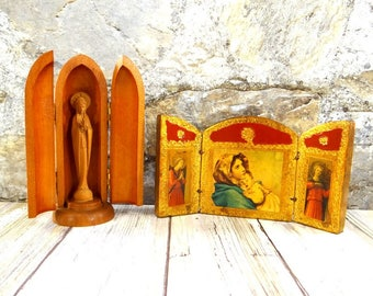 Vintage Virgin Mary Triptychs