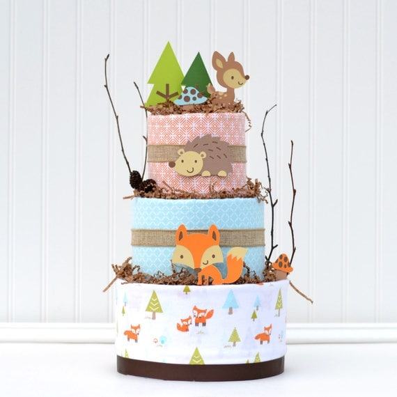 Woodland Friends Blossom Cake