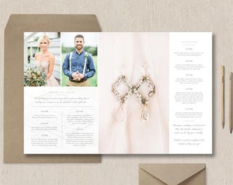 Wedding Day Timeline Template for Photographers - Studio Welcome Packet - Photographer Magazine Templates - Wedding Schedule Template