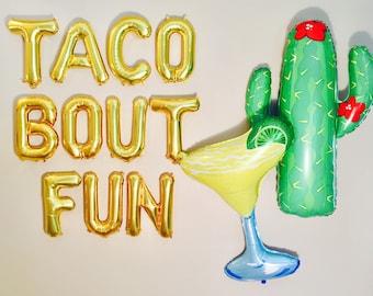 TACO BOUT FUN Balloons, Taco Bar, Taco Decoration, Taco, Taco Banner, Taco Photo Prop, Taco Bout It, Taco Bout A Party, Tacos, Taco Tuesday