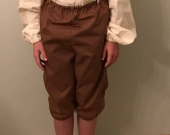 Children's Colonial Knickers or Breeches, Pirate, Renaissance, Williamsburg, Reenactment, Halloween Clothing Accessory