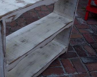 Handmade Wood Shelf - The Nora Shelf - Color Choice - Rustic Table - Bookshelf - Toy Shelf - Rustic Home Decor - Shabby - Cottage Chic