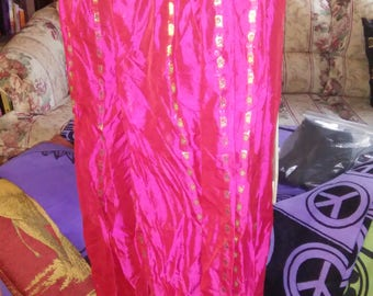 Hot Pink/ Fuscia and Gold Egyptian Bellydance Tribal Fusion Harem Pants- size Small- a-hp-s