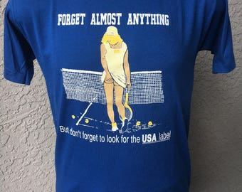 Don't Forget the Made in the USA Label 1980s vintage tee shirt size
