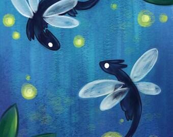 Art Print - Firefly Dragons