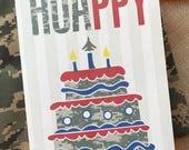 17# Air Force Birthday Card, Camo Birthday Card, Air Force Card, Basic Training Card, Military Birthday Card, Basic Training Card, HUA Card
