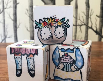 DIY Girl Valentine Animal Blocks
