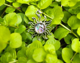 Sterling Silver and Glass Sunshine Pendant