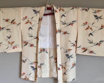 1950s HAORI KIMONO Jacket Floral Pattern